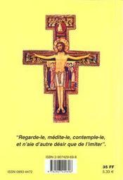 Sainte Claire D' Assise - 4ème de couverture - Format classique