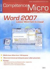 Vente livre :  Competence Micro ; Word 2007  - Collectif