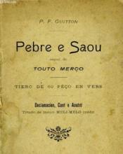 Pebre E Saou - Segui De - Touto Merco - Couverture - Format classique
