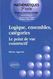 Logique Ensembles Categories Le Point De Vue Constructif - Intérieur - Format classique