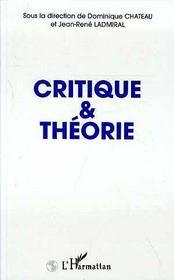 Critique Et Theorie - Intérieur - Format classique