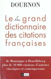 Le Grand Livre Des Citations Francaises - Intérieur - Format classique