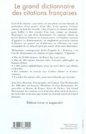 Le Grand Livre Des Citations Francaises - 4ème de couverture - Format classique