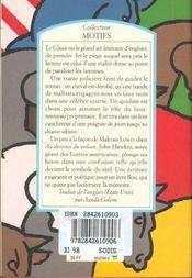 Le gluau - 4ème de couverture - Format classique