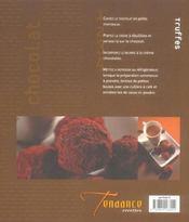 Desserts Faciles Au Chocolat - 4ème de couverture - Format classique