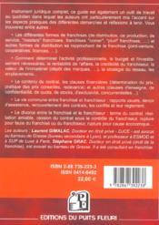 La Franchise. Guide Juridique Et Pratique - 4ème de couverture - Format classique