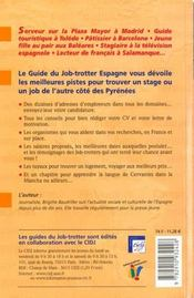 Le guide du job-trotter en Espagne - 4ème de couverture - Format classique