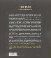 Plic Ploc - 4ème de couverture - Format classique