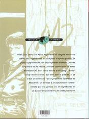 Mandrill t.1; la môme flamberge - 4ème de couverture - Format classique
