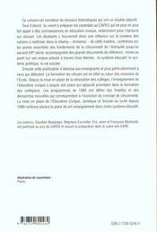 L'Education A La Citoyennete - 4ème de couverture - Format classique
