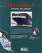 Les bateaux racontés aux enfants - 4ème de couverture - Format classique