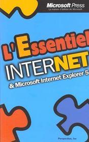 Internet. Microsoft Internet Explorer 5 - Intérieur - Format classique