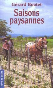 Saisons Paysannes (Poche)(Les) - Intérieur - Format classique