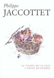 Cahier P. Jaccottet - Intérieur - Format classique