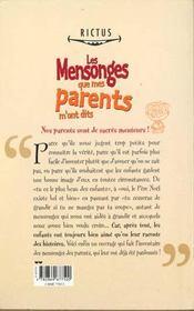 Rictus t.13; tous les mensonges que mes parents m'ont dits - 4ème de couverture - Format classique