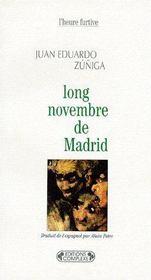 Long novembre de Madrid - Couverture - Format classique