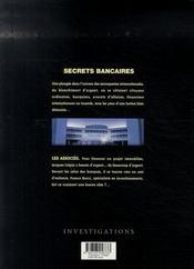 Secrets bancaires t.1.1 ; les associés - 4ème de couverture - Format classique