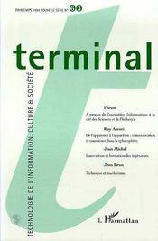 Terminal N.63 - Couverture - Format classique