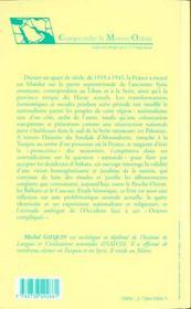 D'Antioche Au Hatay ; L'Histoire Oubliee Du Sandjak D'Alexandrette ; Nationalisme Turc Contre Nationalisme Arabe - 4ème de couverture - Format classique