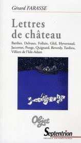Lettres de château - Intérieur - Format classique