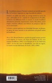 Initiation au bouddhisme - 4ème de couverture - Format classique