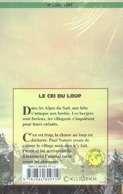 Le Cri Du Loup - 4ème de couverture - Format classique