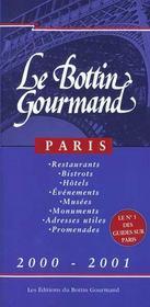 Bottin Gourmand De Paris Francais 2000 - Intérieur - Format classique