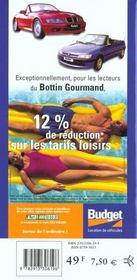Bottin Gourmand De Paris Francais 2000 - 4ème de couverture - Format classique