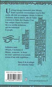 L'Oracle - Tome 2 L'Archonte - 4ème de couverture - Format classique