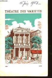Programme : Saison 1952-1953 - Couverture - Format classique