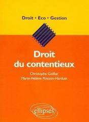 Droit Du Contentieux - Intérieur - Format classique