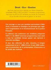 Droit Du Contentieux - 4ème de couverture - Format classique