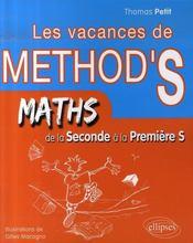 Les vacances de method'S ; mathématiques ; de la 2nde a la 1ère S - Intérieur - Format classique