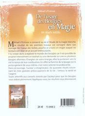 De l'usage des bougies en magie 44 rituels - 4ème de couverture - Format classique