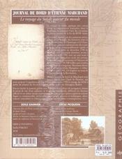 Journal De Bord D'Etienne Marchand ; Le Voyage Du Solide Autour Du Monde, 1790-1792 - 4ème de couverture - Format classique