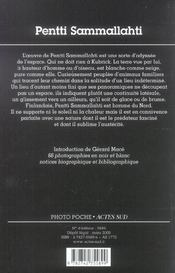 Pentti Sammallahti Photo Poche N 103 - 4ème de couverture - Format classique
