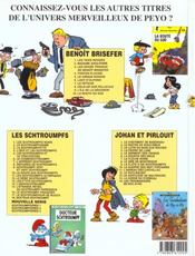 Benoît Brisefer t.5 ; le cirque Bodoni - 4ème de couverture - Format classique