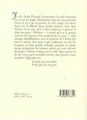 Grand'soif d'andre frenaud (la) - 4ème de couverture - Format classique