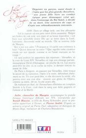 Julie, Chevalier De Maupin - 4ème de couverture - Format classique