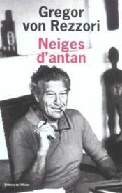 Neiges D'Antan - Couverture - Format classique