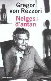 Neiges D'Antan - Intérieur - Format classique