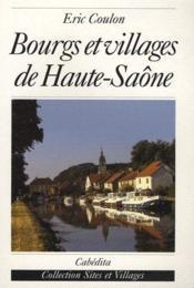 Bourgs et villages de Haute-Saône - Couverture - Format classique