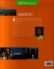 Maroc - 4ème de couverture - Format classique
