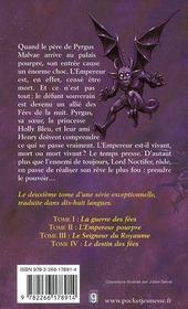 L'Empereur pourpre t.2 ; la guerre des fées - 4ème de couverture - Format classique