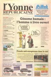 Yonne Republicaine (L') N°147 du 27/06/2000 - Couverture - Format classique