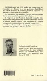 Les Nuits Carnutes : Entretiens Avec Philippe Goudey, Sobhi Habchi Et Jean-Maurice Le Gal - 4ème de couverture - Format classique