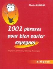 1001 phrases pour bien parler l'espagnol - Couverture - Format classique
