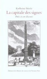Capitale Signes. Paris Et Son Discours. - Intérieur - Format classique