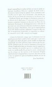 Capitale Signes. Paris Et Son Discours. - 4ème de couverture - Format classique