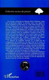 Mauritanie Saharienne : Novembre 1903 A Mai 1904 ; L'Opposition Des Traitants Du Senegal A L'Action De Coppolani - 4ème de couverture - Format classique